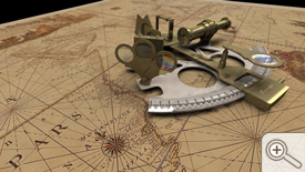 3D Sextant on Map