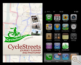 Icon and splash screen design for CycleStreets App